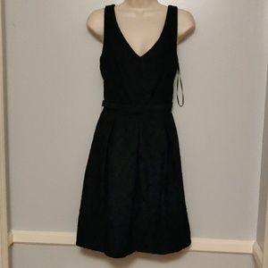 Trina Turk black floral lace dress size 6